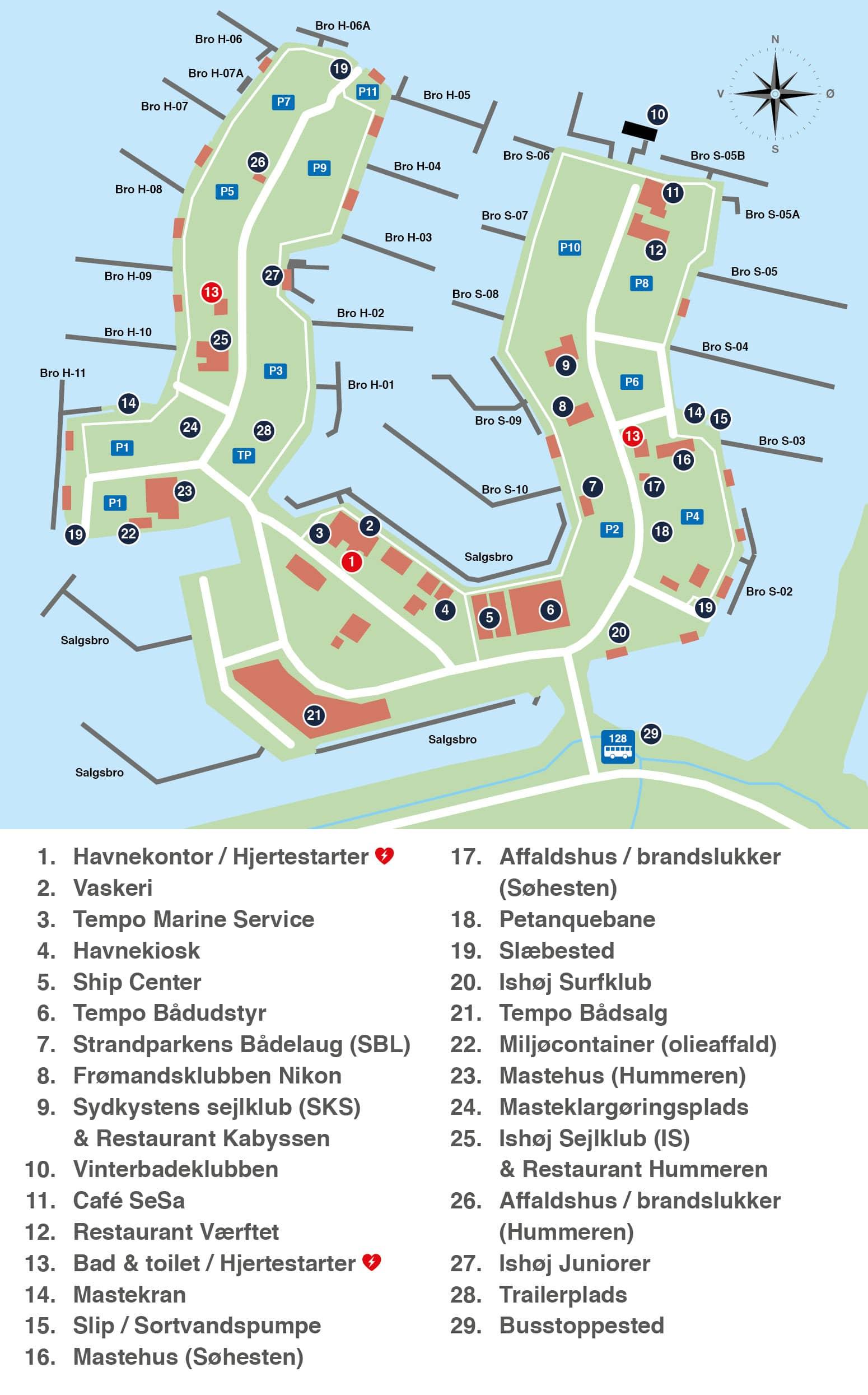 Oversigtskort Ishøj Havn